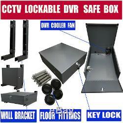 Robuste Verrouillable Dvr Enregistreur Blocage Box Coffre Cctv Dvr Coffre-fort