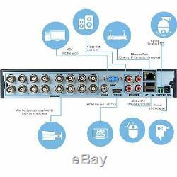 Safevant 5mp Super Hd Dvr 16 Canaux Enregistreur Vidéo Pour Le Système De Vidéosurveillance De Sécurité