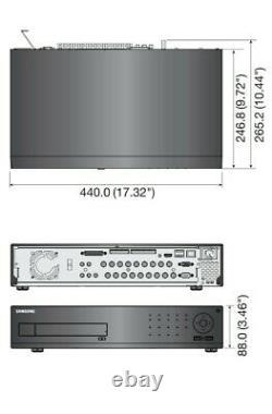 Samsung-1653dp 16ch Srd Cctv H. 264 Enregistreur Vidéo Numérique Hdd 4tb À Distance Contr