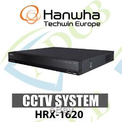 Samsung Hanwha Hrx-1620 5-in-1 16ch Dvr Recorder Ip Ahd Hdtvi Hdcvi Cvbs Cctv