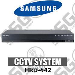 Samsung Hrd-442 4 Channel 4mp Ahd & 2mp Tvi & CVI Enregistreur Vidéo Numérique Cctv