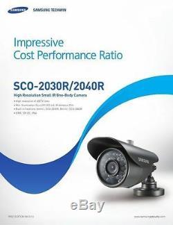Samsung Security Cctv System 4 Caméras De Vision Nocturne Enregistreur Dvr 1tb Et Mobile V