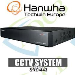 Samsung Srd-443 4 Channel Recorder Cif En Temps Réel H. 264 Dvr Cctv Hdmi Smartphone