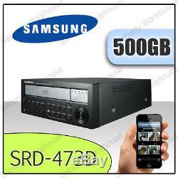 Samsung Srd-473d Enregistreur Vidéo Numérique À Réseau À 4 Canaux Dvr Cctv DVD