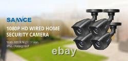 Sannce 4ch Hd Security Dvr Recorder 1tb Avec Écran LCD 10.1inch Et 4 Caméras