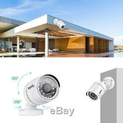 Sannce 5in1 1080n 16ch Dvr Enregistreur Surveillance 12x720p Caméra Cctv Système Tvi