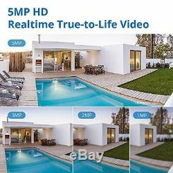 Sannce 5mp Système De Caméra Cctv 8ch H. 264+ 5mp-n Accueil Dvr Enregistreur Avec 4x 2560
