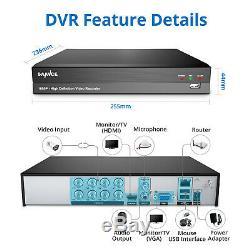 Sannce 8ch 5in1 Cctv 1080p Enregistreur Vidéo Numérique Surveillance Secuirty Kit 1tb