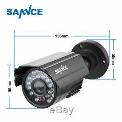 Sannce Dvr 4ch Hvr 960h Überwachungssystem 2 X 800tvl Kamera Ip66