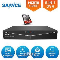 Sannce H. 264 Puissant 5in1 Hdmi 1080p 8ch Dvr Enregistreur Vidéo Système De Caméra Cctv