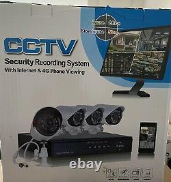 Sannce Hd Enregistreur Vidéo Numérique Cctv Caméra De Sécurité Surveillance À La Maison