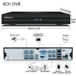 Sansco 4/8 Canaux Hdmi 1080n Cctv Dvr Enregistreur Vidéo Personnel Réseau Hd P2p H2.64