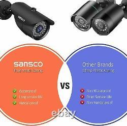 Sansco 8 Channel 1080p Dvr Enregistreur Cctv Système De Sécurité Avec 4x Super Hd 2.0mp