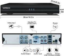 Sansco 8 Channel 1080p Standalone Cctv Dvr Recorder 1tb Disque Dur Préinstallé