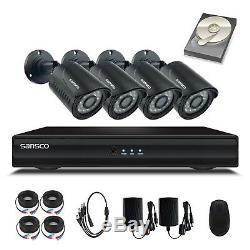 Sansco Cctv 4ch Hdmi 1080n Dvr Enregistreur 720p Système De Caméra De Surveillance Extérieure