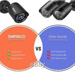 Sansco Smart Home System Caméra Cctv, 4ch Enregistreur Dvr Avec Disque Dur De 1 To
