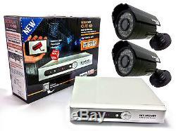 Securenet 4ch 500gb Dvr Cctv Dvr Enregistreur Hdmi 2 Kit Système De Caméras Ir Extérieures