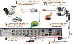 Sikker 16ch Enregistreur Dvr 12x 1080p Cctv Système De Caméra De Sécurité Ir 2to Disque Dur