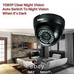 Smart 1tb / 2tb 3000tvl 8 Ch 2mp 1080p Hd Cctv Dvr Recorder Système De Caméras Extérieures