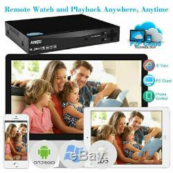 Smart 1tb / 2to 3000tvl 8 Ch 2mp Hd 1080p Cctv Dvr Extérieur Caméras Système