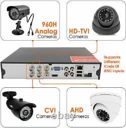 Smart 4 Channel Cctv Digital Video Recorder System Dvr 4ch 1080p 4k 5mp Ahd Royaume-uni