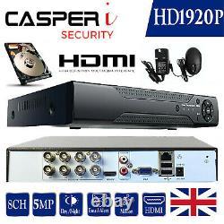 Smart Cctv 8 Channel Full Hd 1920p Dvr 4in1 5mp Enregistreur Vidéo De Sécurité Ahd Hdmi