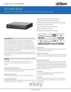 Smart Cctv Dvr 16 Canaux Ahd Caméra Système Enregistreur Vidéo 5mp 4k Hd Uk Spec