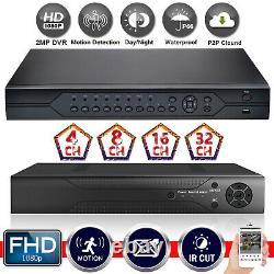 Smart Cctv Dvr 4 8 16 Channel 1080n Ahd Enregistreur Vidéo 2mp Vga Hdmi Motion Detec