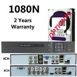 Smart Cctv Dvr 4/8/16 Channel 5 In 1 Ahd 1080p Enregistreur Vidéo Hdmi Vga Bnc P2p