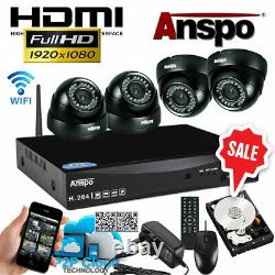 Smart Cctv Hd Digital Video Recorder Camera System Dvr 4ch Home Security Wifi Royaume-uni