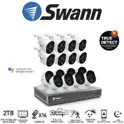 Swann 16 Canaux 16ch Dvr Avec Enregistreur 2tb 16x 1080p Caméras Thermiques Kit Hdmi