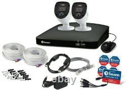 Swann 4 Channel 1tb Dvr Enregistreur Avec 2 X 1080p Full Hd Enforcer Caméras
