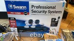 Swann 4 Channel Digital Video Recorder & 2 Cameras Cctv For Home Unboxed New