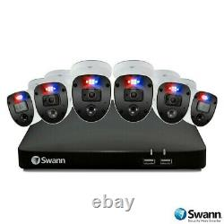 Swann 8 Canaux Dvr Avec Enregistreur 2tb 6 X 4k Ultra Hd Caméras Exécuteur
