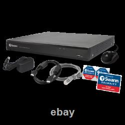 Swann 8mp Ultra Hd 4k Cctv Recorder 2to 16 Channel Dvr Security System Extérieur