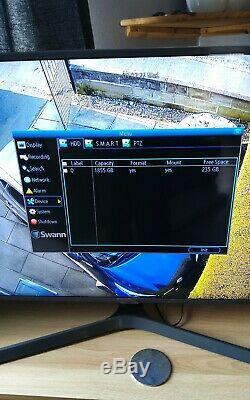 Swann Cctv Dvr8 4600 Enregistreur Avec 4 X Pro A856 Hd 1080p Hd Caméras Massif 2tb