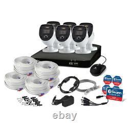 Swann Cctv System 8-ch 1 To Dvr Enregistreur + 6 X 1080p Full Hd Enforcer Caméras Nouveau