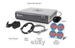 Swann Dvr4-4575 4 Channel Hd 1080p Dvr Ahd Tvi 500 Go Hdd Cctv Recorder Hdmi Vga