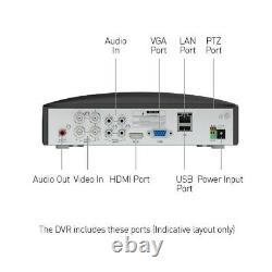 Swann Dvr4 5680 4 Canal 8mp 4k Ultra Hd Dvr 1 To Hdd Cctv Recorder Hdmi Vga Bnc
