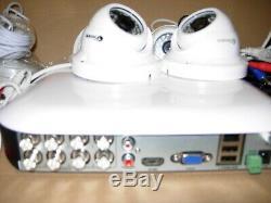 Swann Dvr8-5000 Dvr Recorder Quantité 4 X Pro-t854 Montage Au Plafond 1080p Hd Caméras