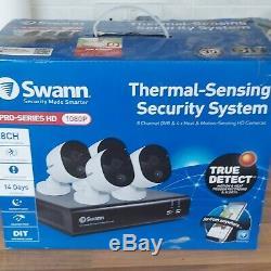 Swann Dvr-4575 4 Ch 2mp Hd 1080p Cctv Enregistreur Et 4 X Caméras Thermiques De Détection