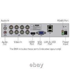 Swann Dvr 4680 4 8 16 Canal 1080p Full Hd Digital Video Recorder Pir Cctv Hdmi