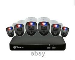 Swann Enforcer 6 Caméra 8 Channel 4k Ultra Hd 2to Dvr Enregistreur Caméras Cctv