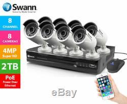Swann Nvr 7400 4 8 16 Canaux 4mp Cctv Dvr Enregistreur Hdmi 2tb Nhd-818 Caméras