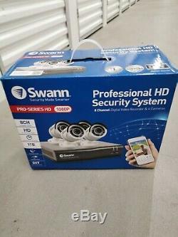 Swann Pro-series Hd 1080p 8 Canaux Enregistreur Vidéo Numérique Et 4 Caméras (cctv)