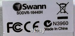 Swann Sodvr-16440h Dvr Hd 720p 16 Canaux Ahd Tvi Enregistreur Cctv Hdd Hdmi Vga