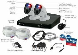 Swann Swdvk-456802rl 4-ch 1 To Dvr Cctv Enregistreur Avec 2x 4k Caméras Extérieures