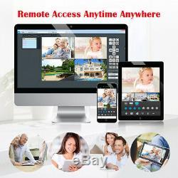 Système Cctv 4ch 1080p Sans Fil Dvr Enregistreur 720p Wifi Caméra Ip Accueil Sécurité Royaume-uni