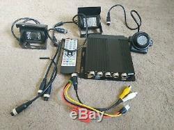 Système D'enregistrement De Dash De Système D'enregistrement De Véhicule De Télévision En Circuit Fermé De Voiture De 4ch Pour Le Bus Uk De Taxi Van