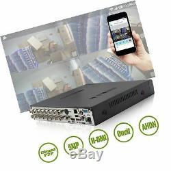 Système De Caméra De Sécurité De Télévision En Circuit Fermé De Digital De L'enregistreur Dvr H. 164 Enregistreur De 16 Canaux Dvr
